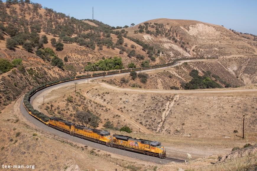 UP 8347 + 4100 + 4458, Bealville (CA) 26-5-2014