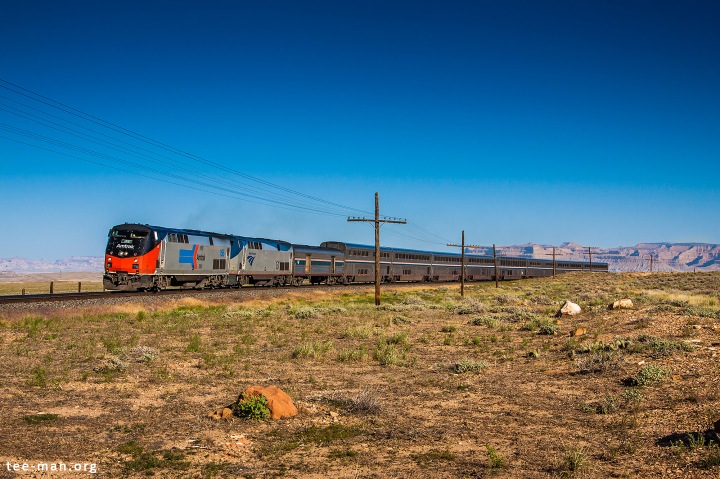 Amtrak's 156 hauls the California Zephyr from San Francisco to Chicago through Green River. 1.6.2014