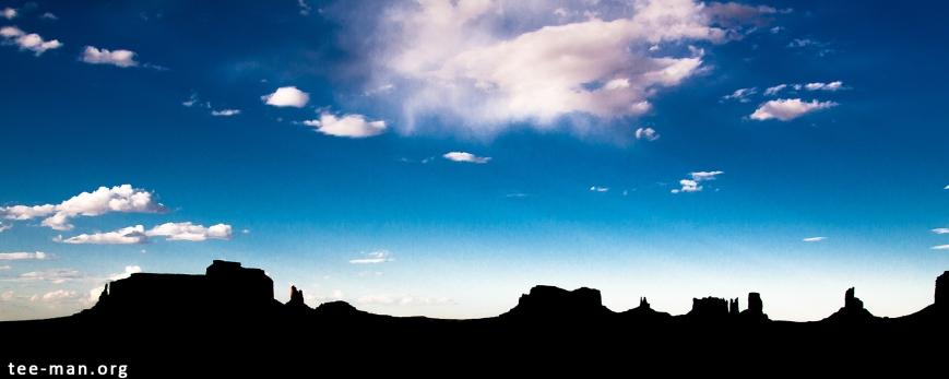 Monumen valley silhouette, 30.5.2014
