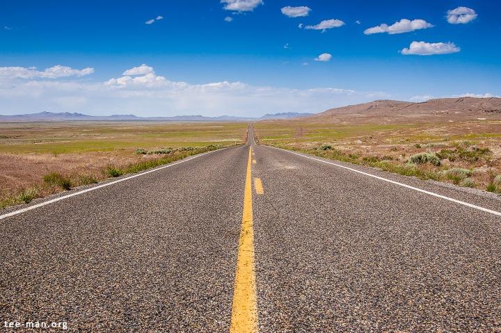 Straight through the dry wilderness, headed for Utah's Great Salt Lake. 3.6.2014