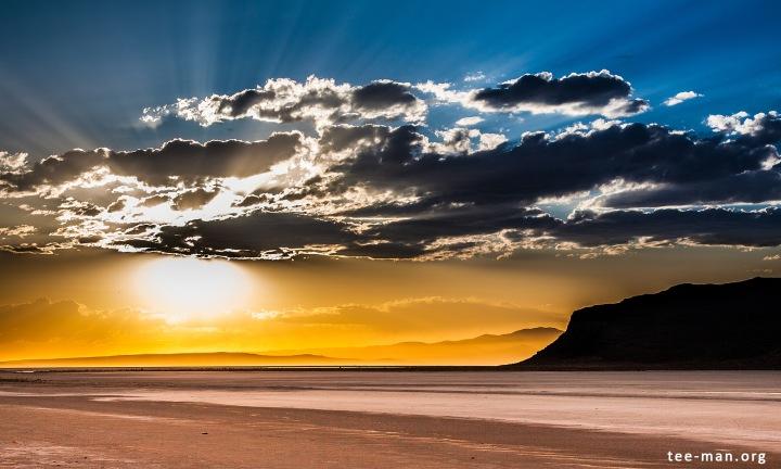 Sunset over the Great Salt Lake. Lakeside, 3.6.2014