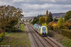 Next stop for SNCF 82513 is Troyes. Marnay-sur-Seine, 25.10.2015